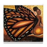 Madame Butterfly II Tile Coaster