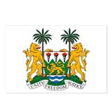 Sierra Leone Coat of Arms Postcards (Package of 8)