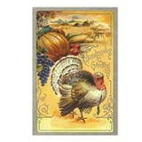 Vintage Thanksgiving design Postcards (Pkg of 8)