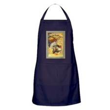 Vintage Thanksgiving Postcard Apron (dark)