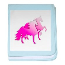 Pink Silo Saddlebreds Infant Blanket