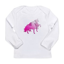 Pink Silo Saddlebreds Long Sleeve Infant T-Shirt