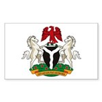 Nigerian Coat of Arms Rectangle Sticker