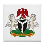 Nigerian Coat of Arms Tile Coaster