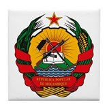 Mozambique Coat of Arms Tile Coaster