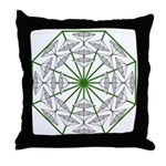 Eclectic Flower 366 Throw Pillow