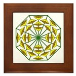Eclectic Flower 373 Framed Tile