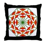 Eclectic Flower 374 Throw Pillow