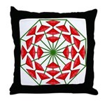 Eclectic Flower 376 Throw Pillow
