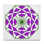 Eclectic Flower 377 Tile Coaster