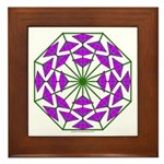 Eclectic Flower 377 Framed Tile