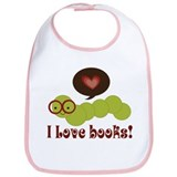 I Love Books Bookworm Bib