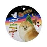 Xsigns-Pomeranian (ws) Ornament (round)