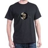 Winged Skull w/Moon Black T-Shirt
