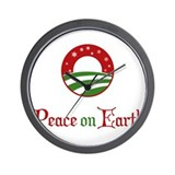 Peace on Earth Obama Wall Clock
