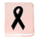 Black Awareness Ribbon Infant Blanket
