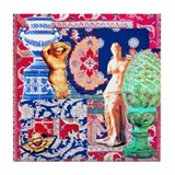 Tapestry in Blue Tile Coaster