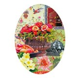 Asian Floral Oval Ornament
