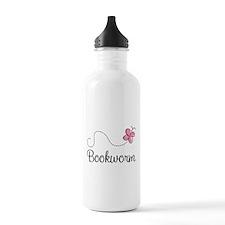 Pink Butterfly Bookworm Water Bottle