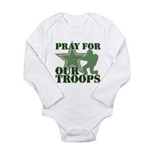 Pray for our troops Long Sleeve Infant Bodysuit
