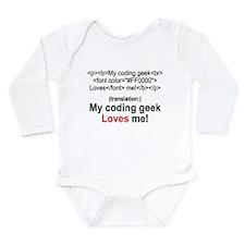 Coding Geek! Long Sleeve Infant Bodysuit