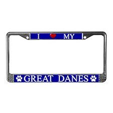 Blue I Love My Great Danes Frame