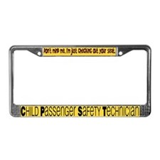 Cute Checked License Plate Frame
