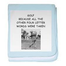 golf humor calendar Infant Blanket