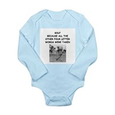 golf humor calendar Long Sleeve Infant Bodysuit