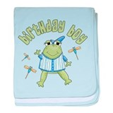 Froggy Birthday Boy Infant Blanket