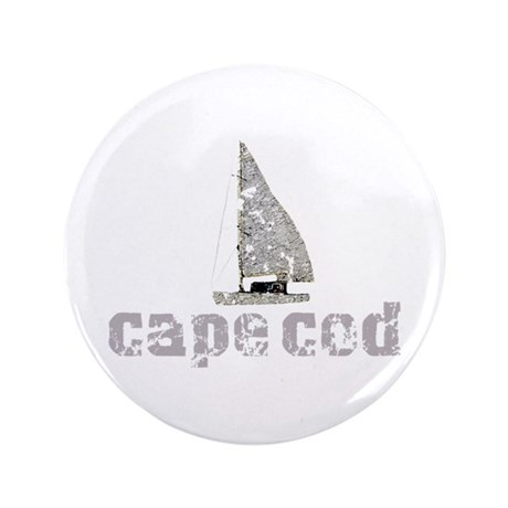 "Cape Cod Sailboat 3.5"" Button (100 pack)"