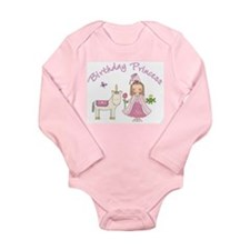 Unicorn Princess Birthday Long Sleeve Infant Bodys