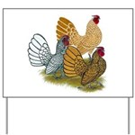 Sebright Rooster Assortment Yard Sign
