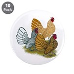 """Sebright Rooster Assortment 3.5"""" Button (10 p"""