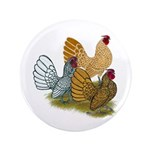 """Sebright Rooster Assortment 3.5"""" Button"""