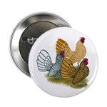 """Sebright Rooster Assortment 2.25"""" Button (100"""
