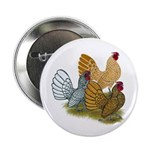 """Sebright Rooster Assortment 2.25"""" Button"""