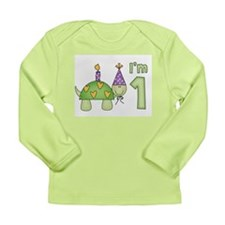 Little Turtle First Birthday Long Sleeve Infant T-