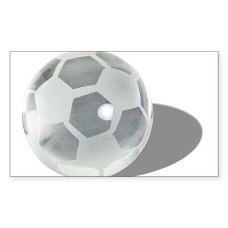Soccer Crystal Ball Sticker (Rectangle)