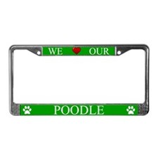Green We Love Our Poodle Frame