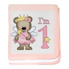 Bear Princess First Birthday Infant Blanket