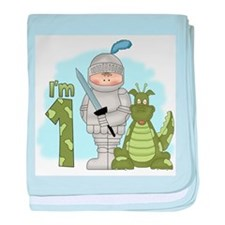 Dragon Knight First Birthday Infant Blanket