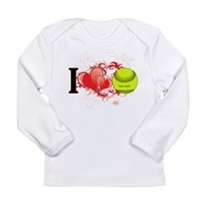 Girls Softball Long Sleeve Infant T-Shirt
