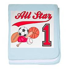 All-Star Sports First Birthda Infant Blanket