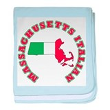 Massachusetts Italian Infant Blanket
