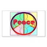 Abstract Peace Sign Sticker (Rectangle 10 pk)