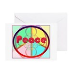 Abstract Peace Sign Greeting Cards (Pk of 20)