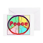 Abstract Peace Sign Greeting Card