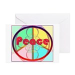 Abstract Peace Sign Greeting Cards (Pk of 10)