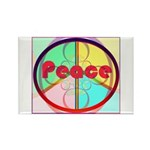 Abstract Peace Sign Rectangle Magnet (10 pack)